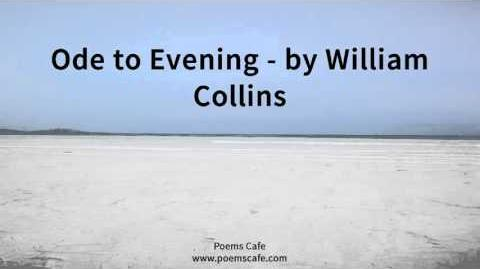 Ode to Evening, by William Collins