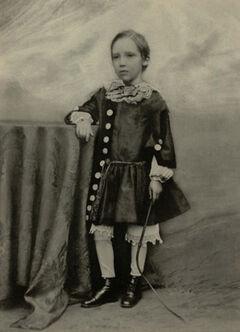 Robert Louis Stevenson mit 7 Jahren