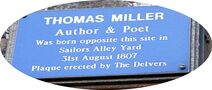 Thomas Miller's birthplace