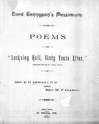 Tennyson'spessimism