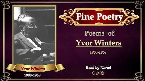 Fine Poetry - Poems of Yvor Winters
