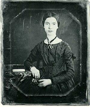 Black-white photograph of Emily Dickinson