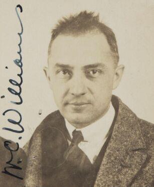 William Carlos Williams passport photograph 1921