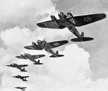 Heinkel He 111 during the Battle of Britain