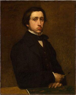 Edgar Degas, self portrait 1885
