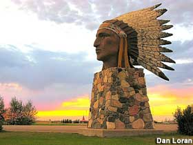 Indian Head Statue