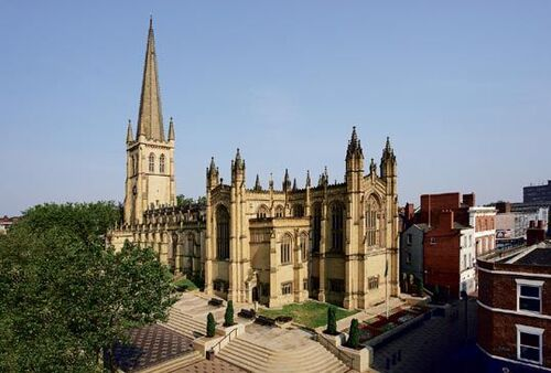 Wakefield-Cathedral-in-England