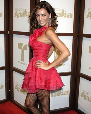 Elizabeth Gutierrez pink dress