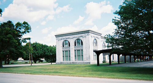 Former train station, now school offices
