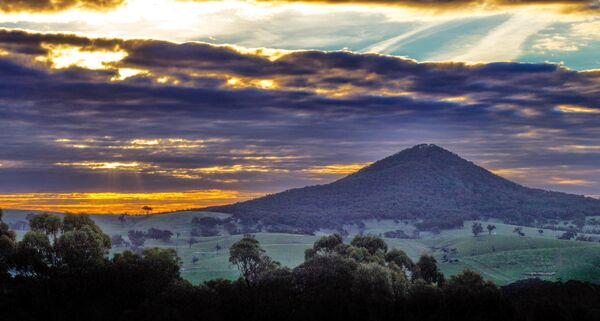 Mount Piper at sunset