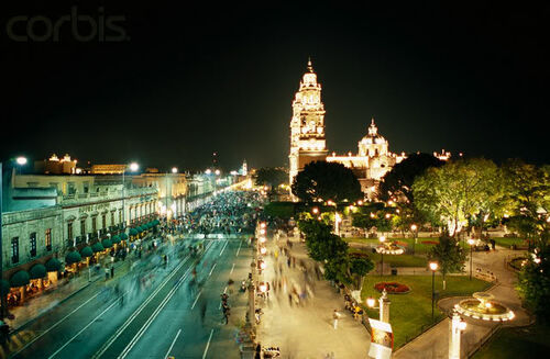 Morelia-city-by-night