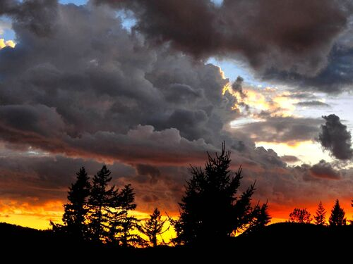 Stormy sunset in Port Moody
