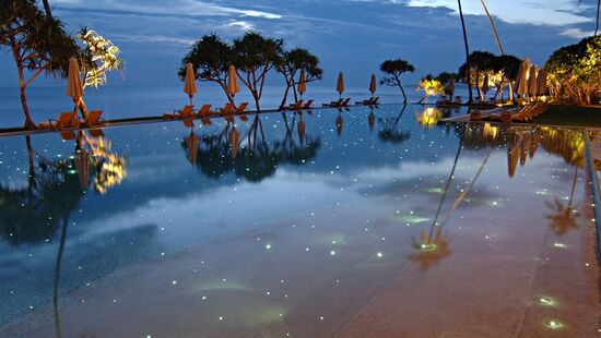Gorgeous beautiful starry pool