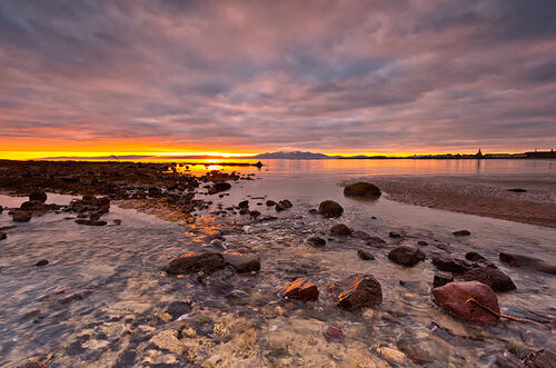Sunset in Saltcoats