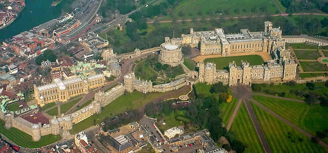 Windsor Castle from the Air wideangle