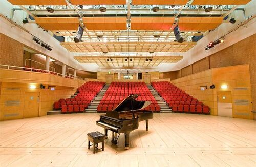 Stevenson Concert Hall with piano