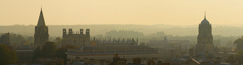 Oxford skyline panorama from st. Mary's Church