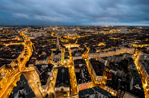 Avenues of light in Nantes