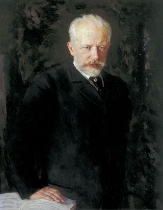 Porträt des Komponisten Pjotr I. Tschaikowski (1840-1893)