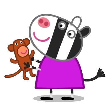 Image result for peppa pig zoe zebra