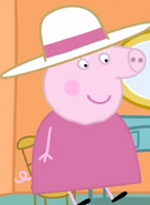 Granny Pig wearing her hat