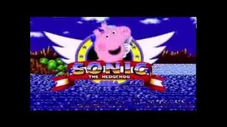 Peppa Pig in Sonic the Hedgehog (Title Screen)