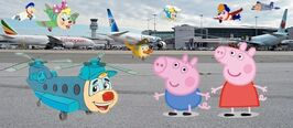 Peppa at the Airport