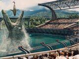 Jurassic World's Mosasaurus Feeding Show