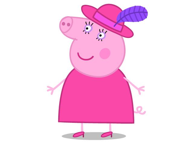 papai pig + mamãe pig + peppa pig pelúcia ursinho george pig