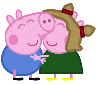 George And Elly Peppa Pig Fanon Wiki Fandom
