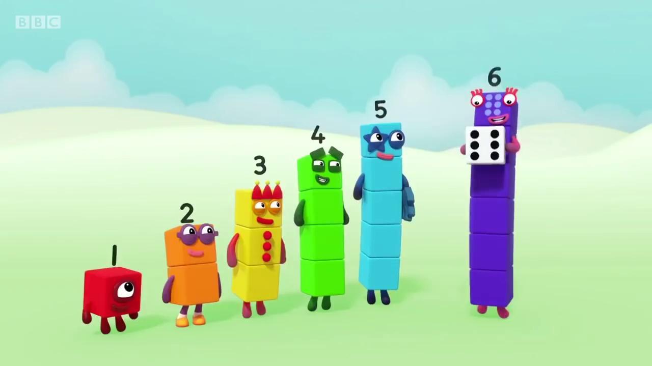 Numberblocks S01E16 Six (2017) learn the number Preschool-1