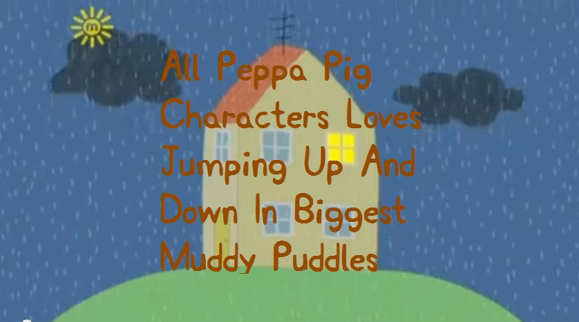 image all peppa pig characters loves jumping up and down in