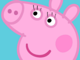 Peppa gets eyelashes