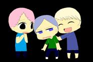 Human richard, edmond, and george