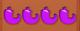 4 purple peppers