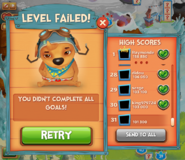 Level failed! goal