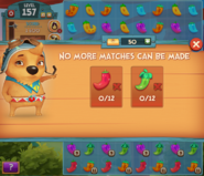 Level failed! no match
