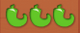 3 green peppers