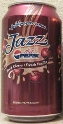 A Diet Pepsi Jazz Black Cherry and French Vanilla Can