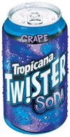 Tropicana twister soda grape 12oz can