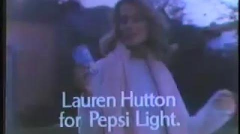 Lauren Hutton 1981 Pepsi Light Commercial