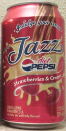 A Diet Pepsi Jazz Strawberries and Cream Can