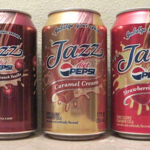 Three Pepsi Jazz Cans.