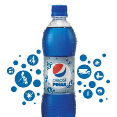 A bottle of Pepsi Pinas from Metro Manila, Philippines.