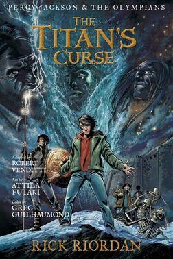 Couverture Percy Jackson - Le Sort du Titan (Roman Graphique)