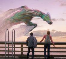 Annabeth, Percy et un hippocampe