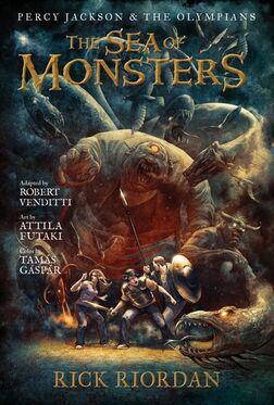 Couverture Percy Jackson - La Mer des Monstres (Roman Graphique)