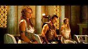 Apollon, Artémis et Déméter au conseil des Olympiens (film PJ1)