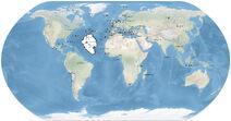 Atlantis auf der Weltkarte