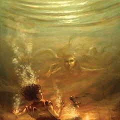 Перси под водой после падения с арки Святого Луи